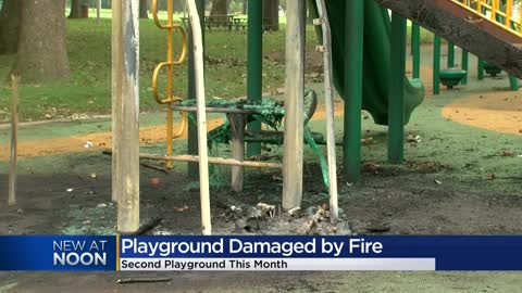 """ Mom reacts to second Milwaukee playground lit on fire this..."